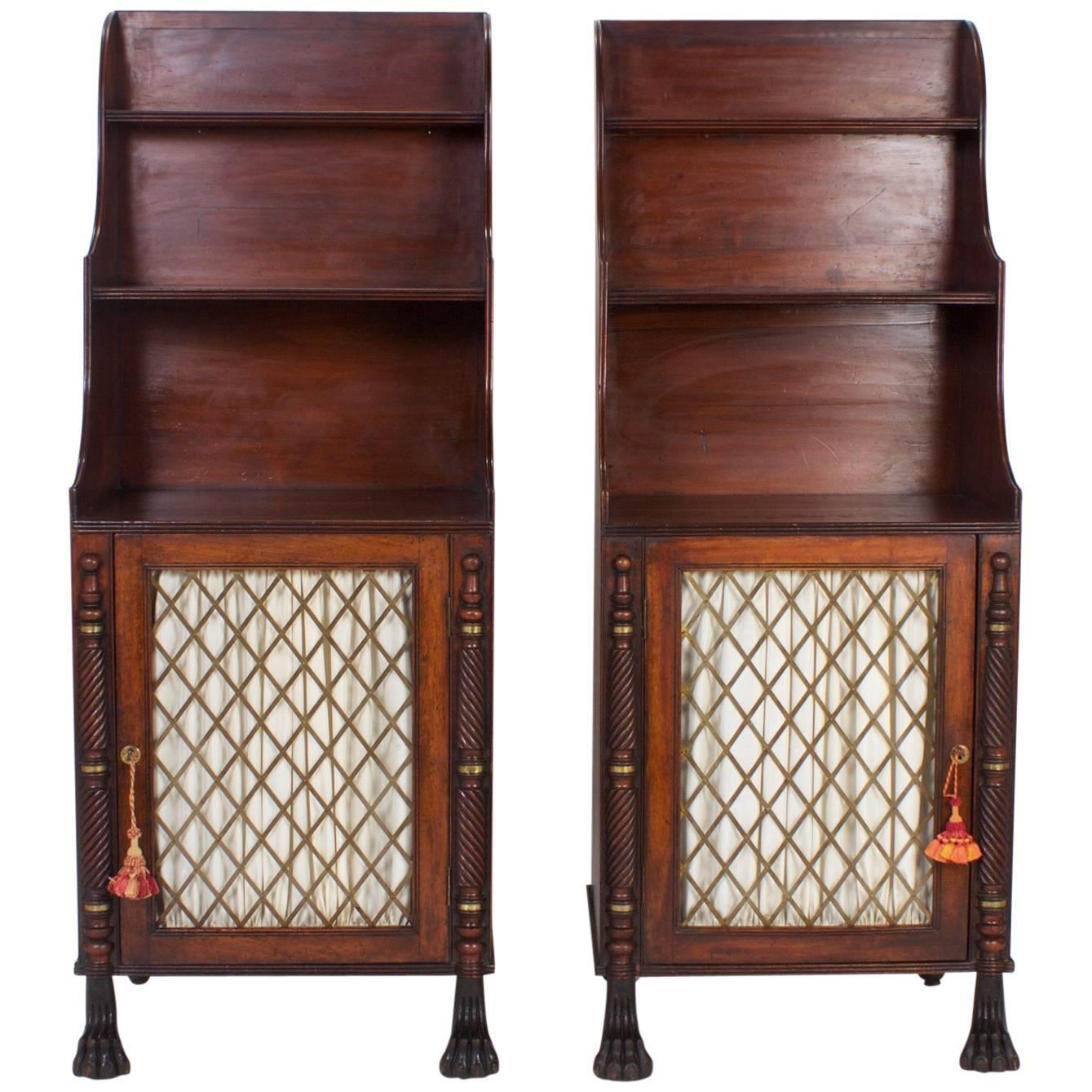 Antique Leather Sofa Northern Ireland: Pair Of Antique Irish Chiffoniers For Sale At 1stdibs