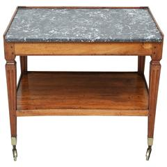 Antique Italian Two-Tiered Cart with Marble Top