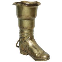 Vintage Brass Boot Umbella Stand