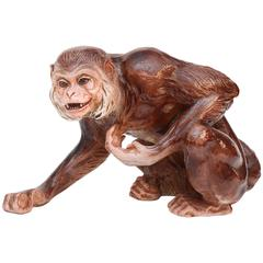 Lifesize Terra Cotta Monkey