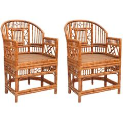 Pair of Brighton Bamboo Armchairs