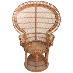 """Superb Reed """"Peacock"""" Chair"""