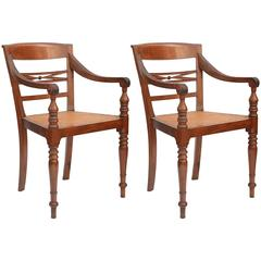 Pair of Colonial Indian Armchairs