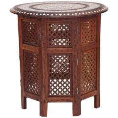 Anglo-Indian Inlaid Travel Table