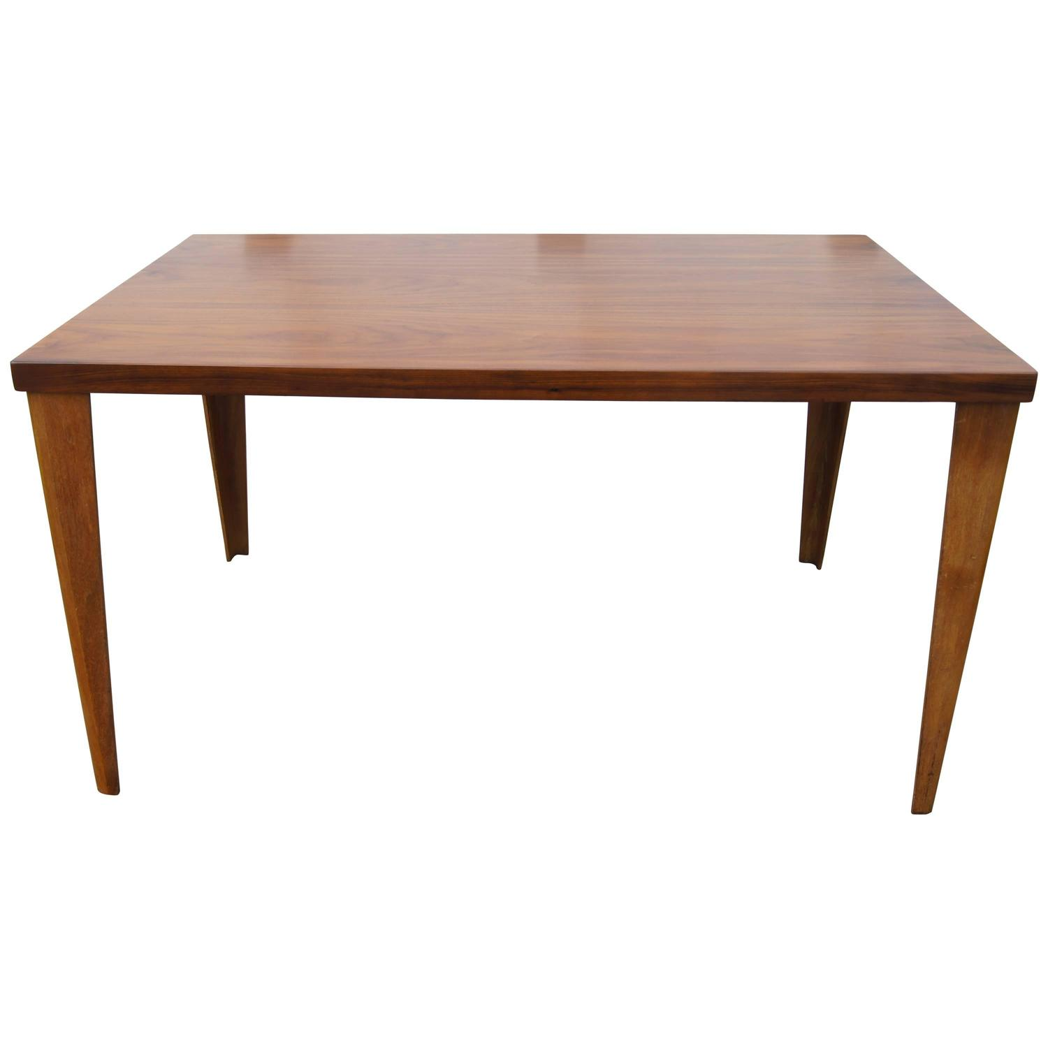 rare dtw 1 dining table in walnut by charles eames for herman miller for sale at 1stdibs. Black Bedroom Furniture Sets. Home Design Ideas