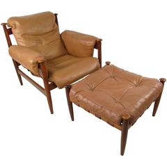Vintage Leather Amiral Lounge Chair by Ire Mobler