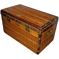 "Large 1880s Louis Vuitton ""Rayée"" Canvas Steamer Trunk"