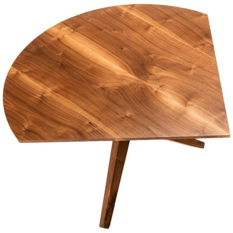 Solid walnut jack base corner table for sale at 1stdibs for Furniture jack