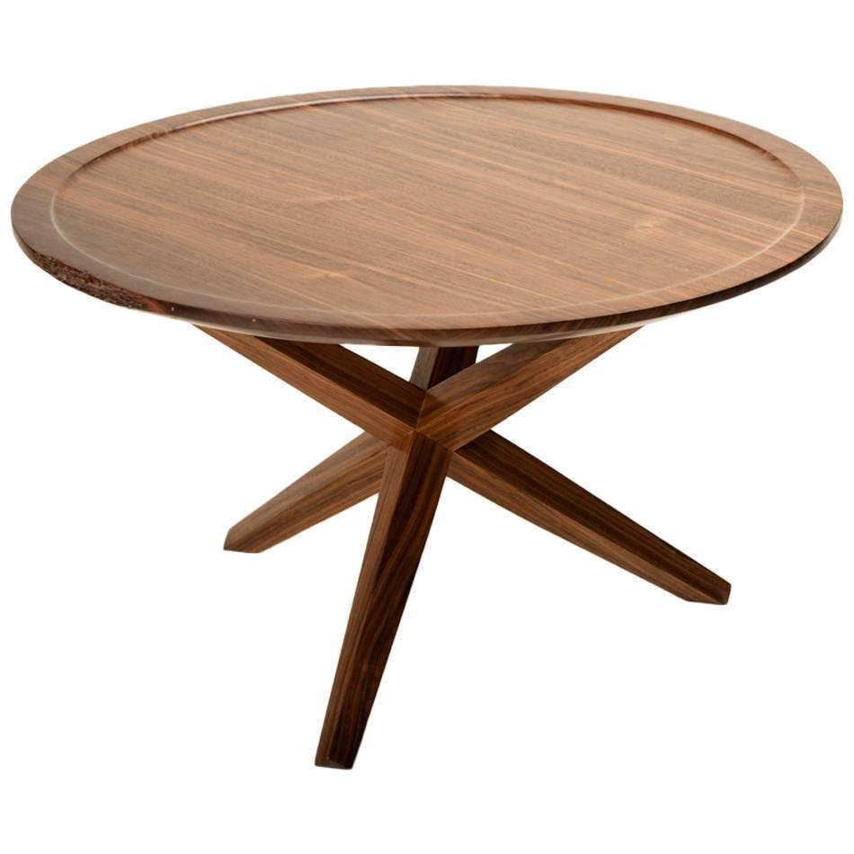 Solid Walnut Round Ledge Top End Table For Sale At 1stdibs