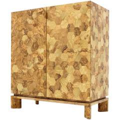 Italian Modern Honeycomb Handmade Timber Two-Door Bee Cabinet