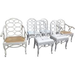 Set of Six Lacquered Loop Back Chairs
