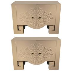 Pair of Newly Lacquered Console Cabinets