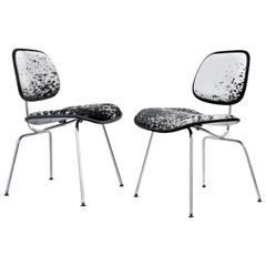 Charles and Ray Eames for Herman Miller, Pair of DCM Cowhide Side Chairs