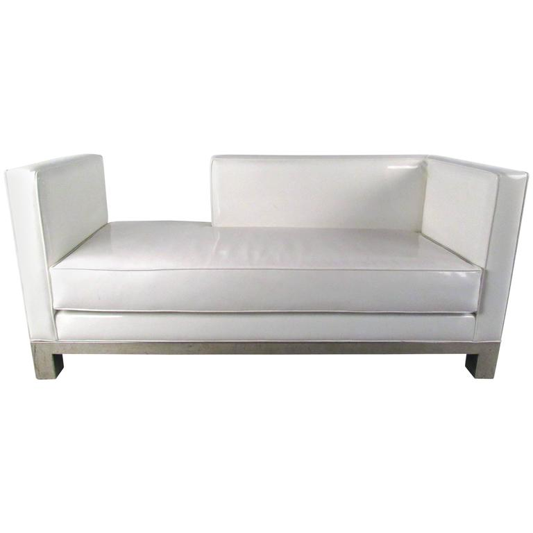 Mid century modern style chaise lounge sofa for sale at for Modern lounge sofa