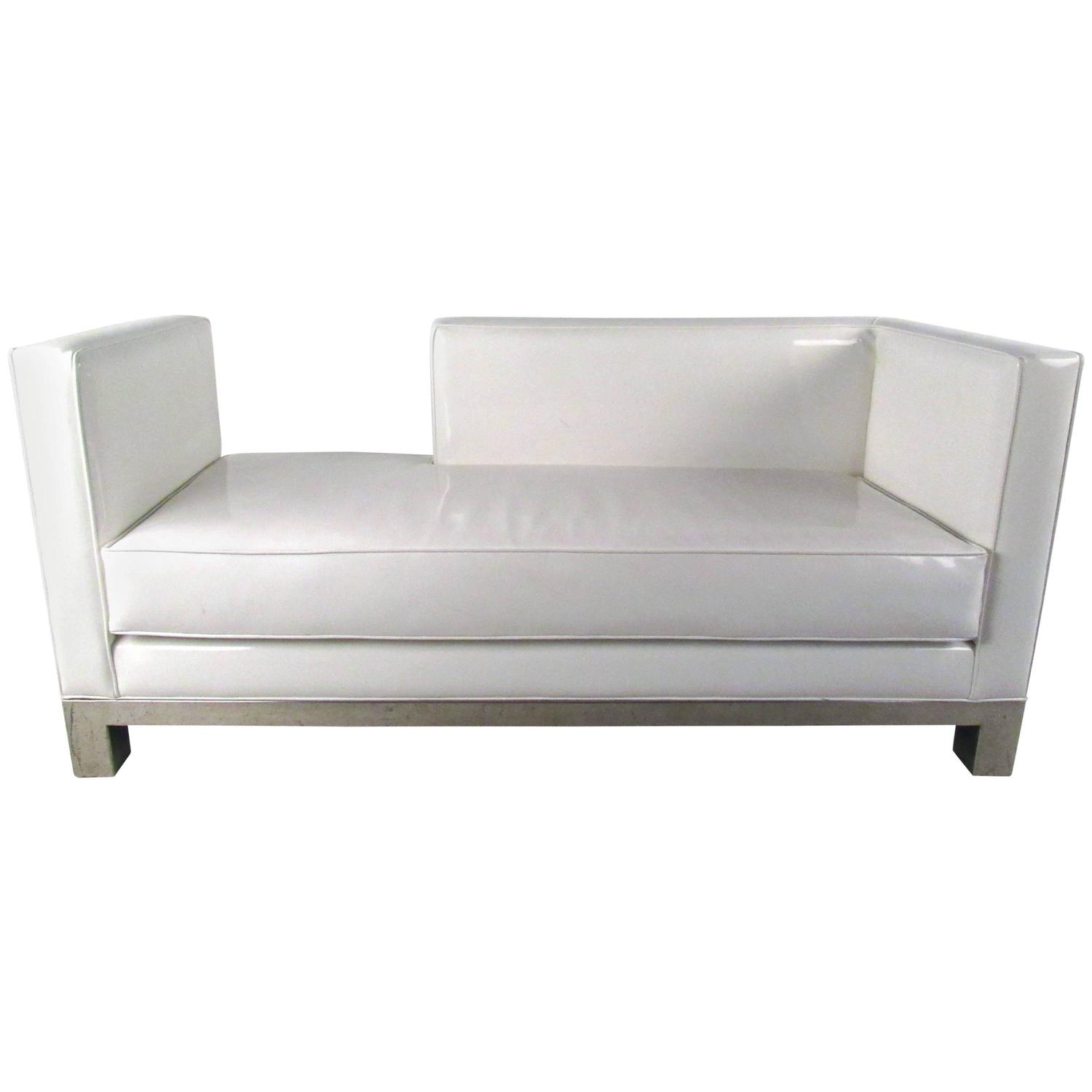 Mid century modern style chaise lounge sofa for sale at for Mid century sectional sofa for sale