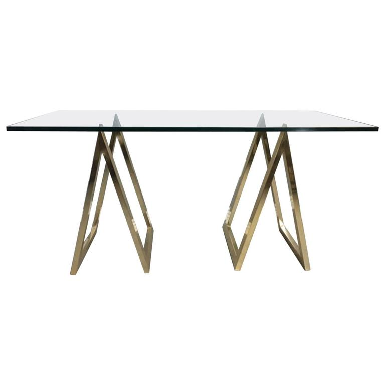 Sawhorse or A Frame Console Table or Desk