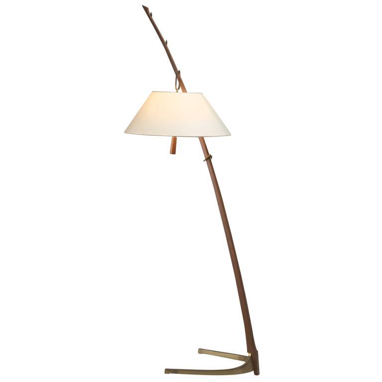 Kalmar Dornstab Thorn Stick Floor Lamp With Brass Foot
