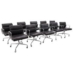 Eames for Herman Miller Leather Soft Pad Aluminum Group Armchairs buy any number