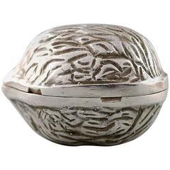 Very Rare 100% Authentic Tiffany & Co. Sterling Silver Walnut Pill Box