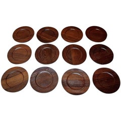 Jens Quistgaard for Kronjyden Complete for 12 Persons Cover Plates in Rosewood