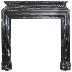 Antique French Bolection De Versailles Marble Fireplace Mantel