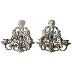 Caldwell Silver Plated Sconces