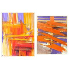 Selection of Vibrant 1970s Abstract Paintings #5