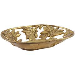 Brass Art Deco Bowl/Vide Poches/Serving Dish