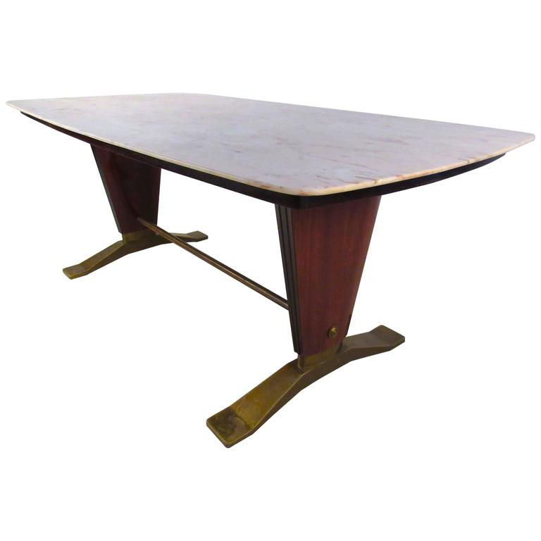 Borsani Style Marble-Top Dining Table