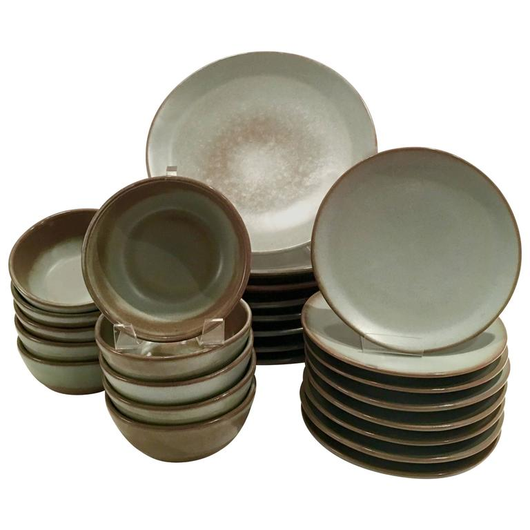 Mid-Century Modern Frankoma Pottery Dinnerware Set of 29 For Sale  sc 1 st  1stDibs : frankoma dinnerware sets - Pezcame.Com