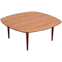 Rare Signed Coffee Table by André Simard for Meubles TV, 1950s