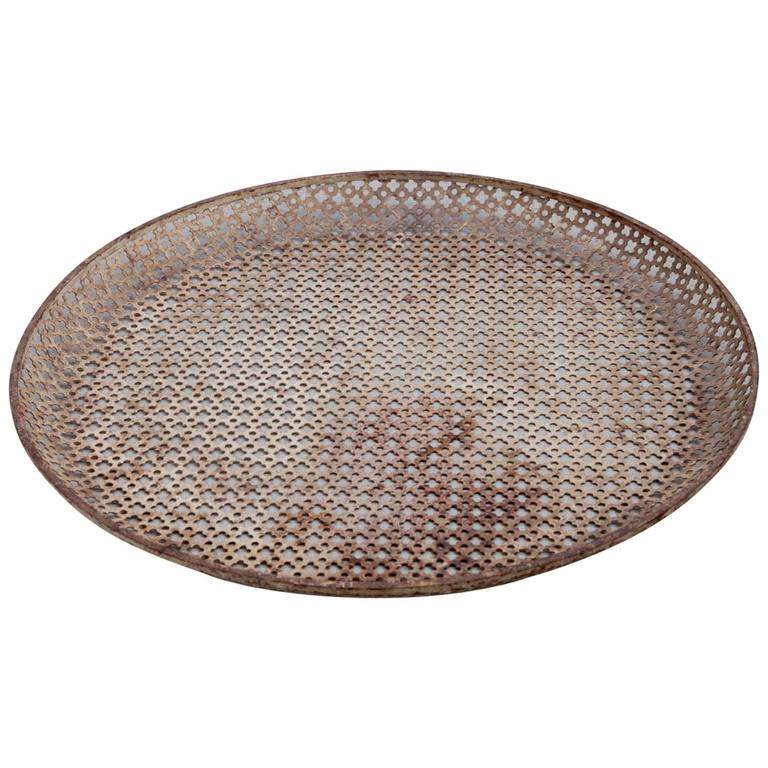 Large Mathieu Matégot Metal Plate or Platter, circa 1950
