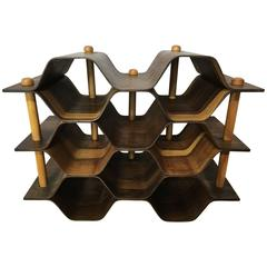 Swedish Rosewood Wine Rack by Torsten Johanson