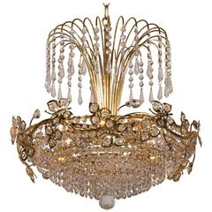 Whimsical Vintage Italian Tole Chandelier Circa 1920 For