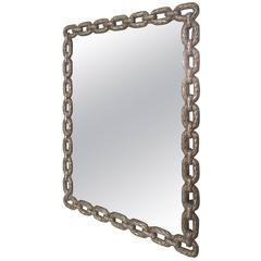 Metal Chain Link Framed Mirror