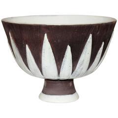 Vintage Bitossi for Goodfriend Imports Foglia Compote Bowl Centerpiece