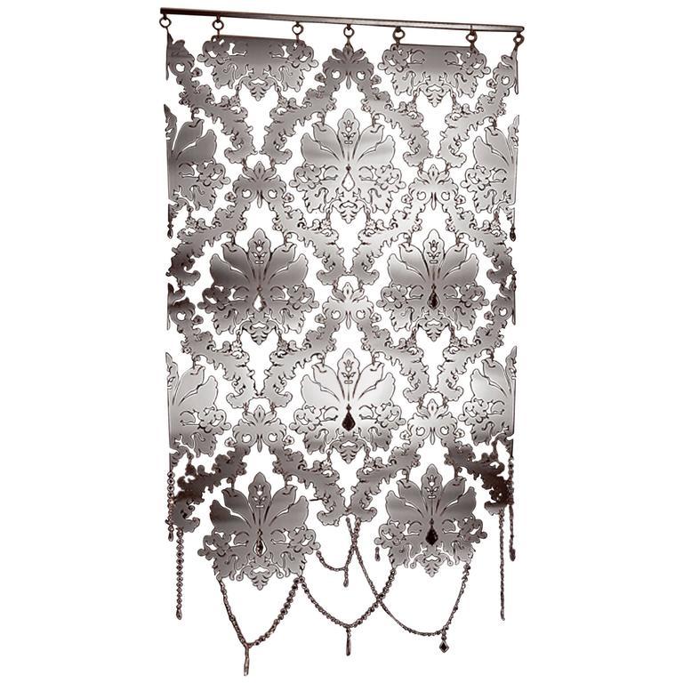 crystal metal panel with transparent crystal decoration for sale at 1stdibs. Black Bedroom Furniture Sets. Home Design Ideas