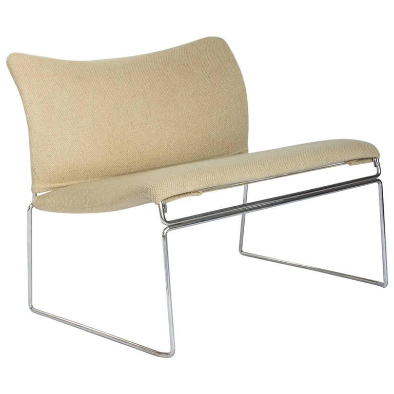 1971, Kazuhide Takahama, Saghi Chair Loveseat in Original Fabric