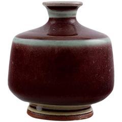 Berndt Friberg Studio Pottery Vase, Modern Swedish Design