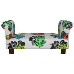 Multiposition Daybed Upholstered in Christian Lacroix