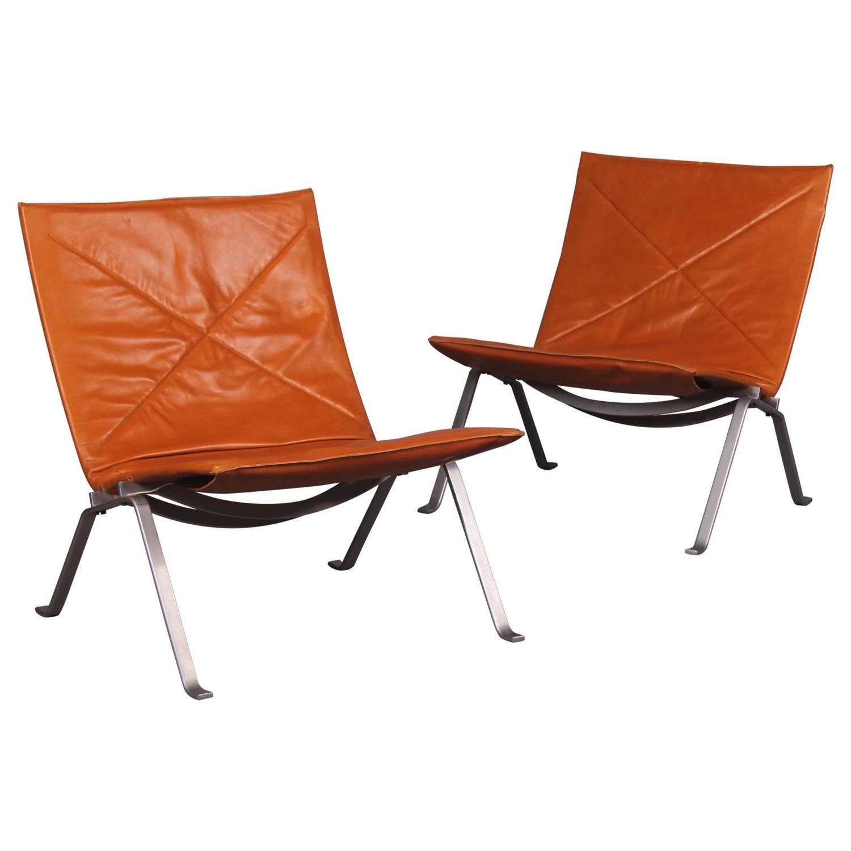 Three Poul Kj Rholm Pk 22 Lounge Chairs For Sale At 1stdibs