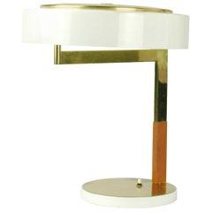 Austrian Modernist Brass Desk Lamp by J. T. Kalmar