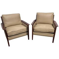 Pair of Vintage 1950s Scandinavian Armchairs