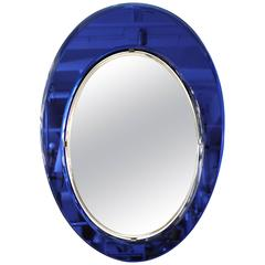 Violet Oval Mirror Made in 1955