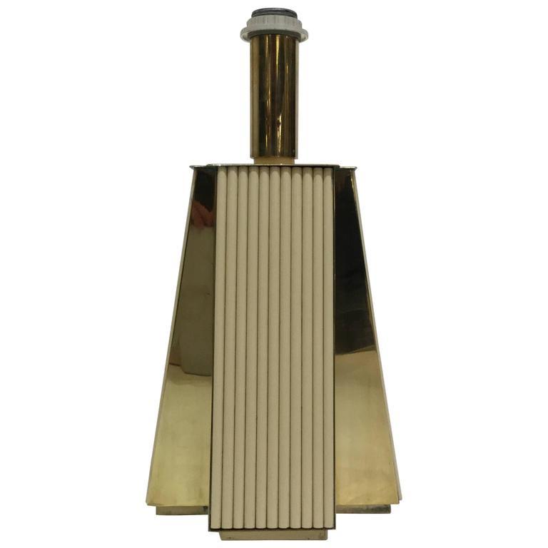 1960 Italian Lamp in Bakelite and Brass