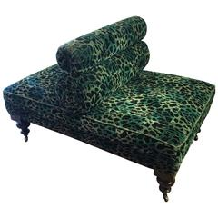 Fabulous Upholstered Animal Print Back to Back Chair