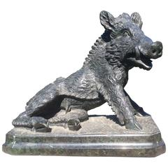Grand Tour Serpentine Marble of the Calydonian Boar