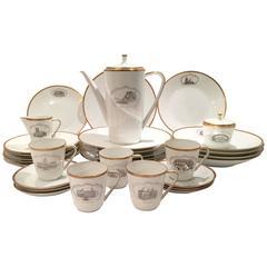 Art Deco Hapag-Lloyd Porcelain Ship Line Dessert and Coffee 33-Piece Set