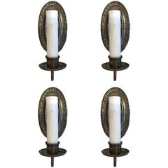 Set of 4 Rare Bronze Sconces by E. F. Caldwell