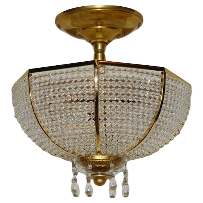 Beaded Crystal Fixture For Sale